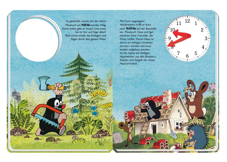 Uhrenbuch mit dem Kleinen Maulwurf_Beispielseite