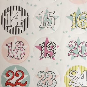 Advendskalender 24 Sticker
